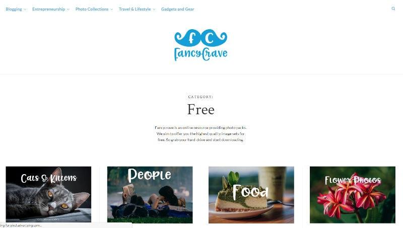 Fancy Crave Website Screenshot