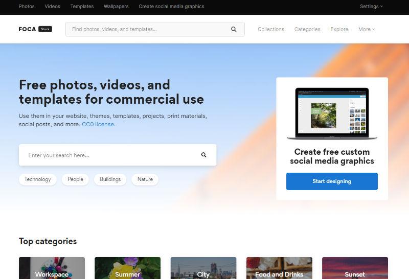 Focastock Website Screenshot