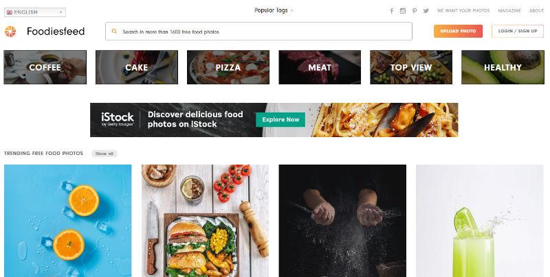 FoodiesFeed Website Screenshot