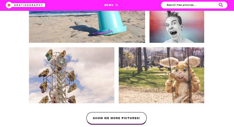 Gratisography Website Screenshot