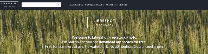 LibreShot Website Screenshot