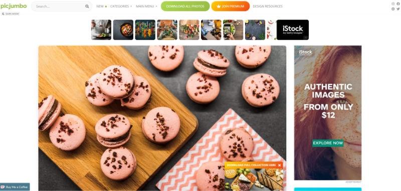 PicJumbo Website Screenshot