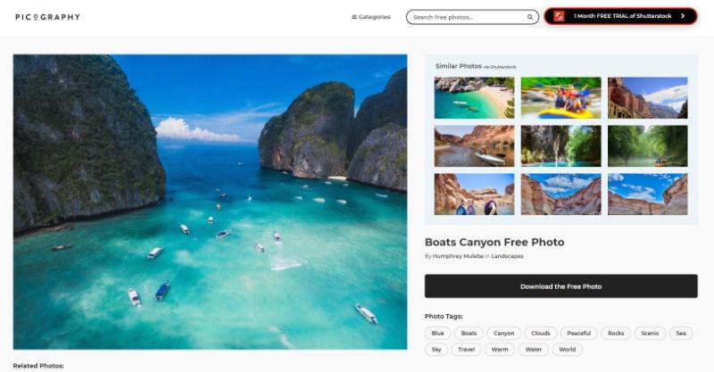 Picography Website Screenshot