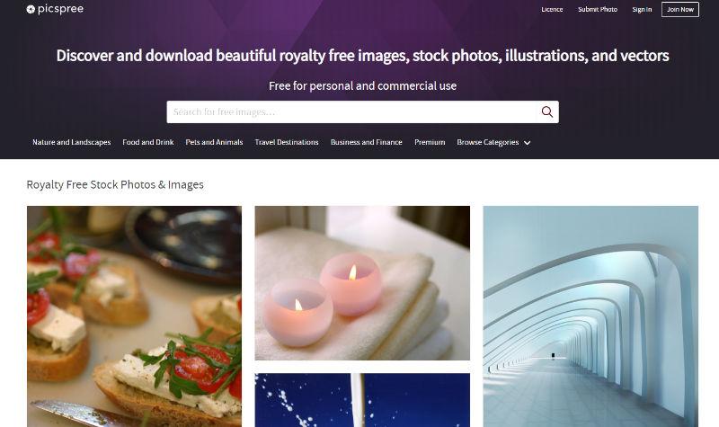 Picspree Website Screenshot