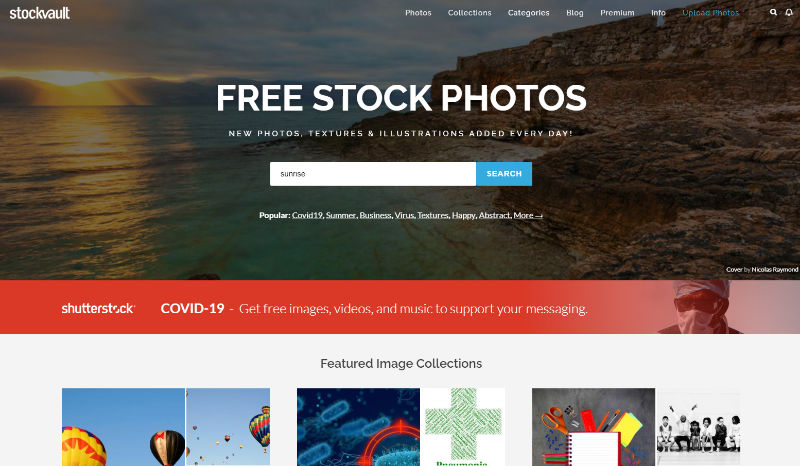 Stockvault Website Screenshot