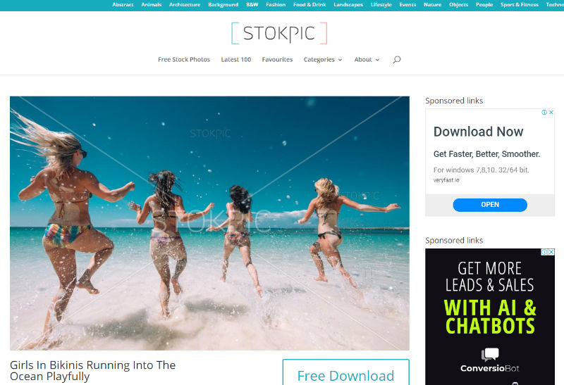 Stokpic Website Screenshot
