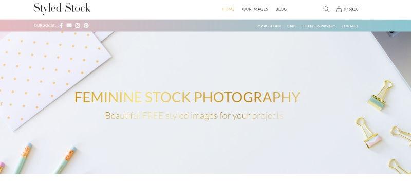 Styled Stock Website Screenshot