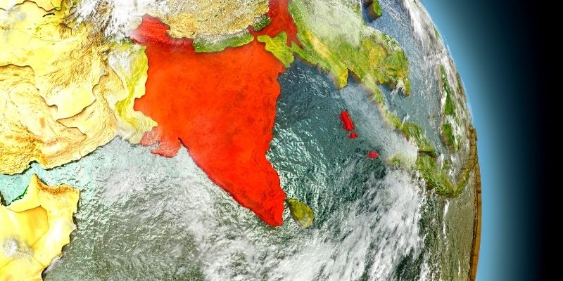 Wordcamp India - Image of India on a local map
