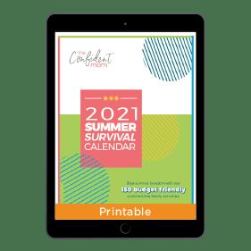 2021 Summer Survival Calendar
