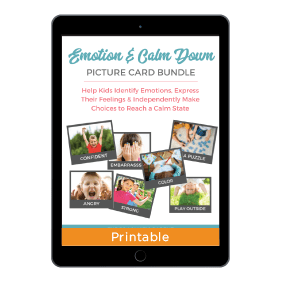 Emotion + Calm Down Picture Card Set