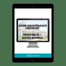 Home Maintenance Checklist + Bonus Pack