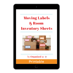 Moving Labels And Room Inventory Sheets