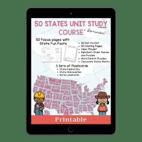 50 States Unit Study Course