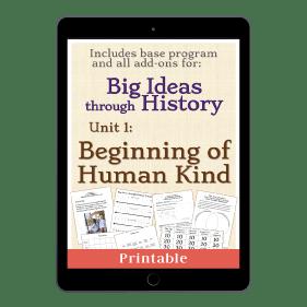 Big Ideas through History Unit 1 Beginning of Human Kind