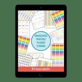 Homeschooling Printable Stickers Bundle