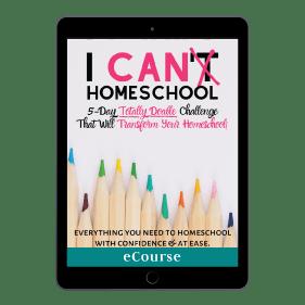 I Can Homeschool Challenge