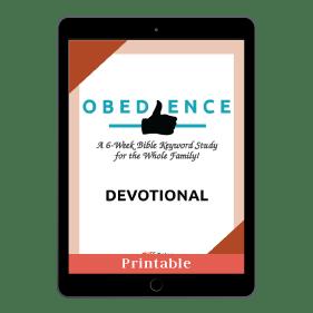 Obedience Devotional