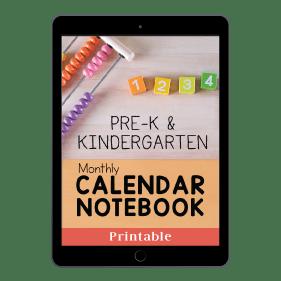 PreK and Kindergarten Monthly Calendar Notebook