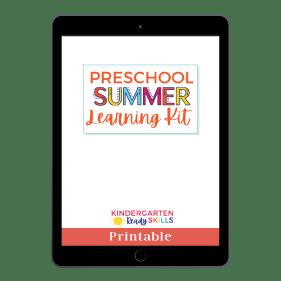 Pre school Summer Learning Kit